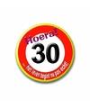 30 jaar verjaardags button