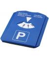 Blauwe parkeerschijf