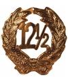 Brons kleurig huldebord 12,5 jaar