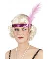 Charleston hoofdband roze