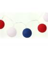 Feestverlichting rood/wit/blauwe balletjes