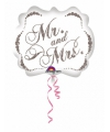 Folie ballon Mr and Mrs 63 cm