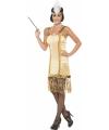 Gouden Charleston flapper jurkje