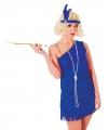 Jaren 20 glamour jurk blauw