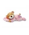 Keel Toys pluche roze beer knuffel met kussen 15 cm