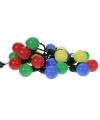 Lichtsnoer met gekleurde bolletjes