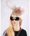 Luxe champagne koninginnen hoed Christina