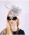 Luxe grijze koninginnen hoed Christina