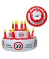 Opblaasbare verjaardagstaart 30 jaar