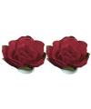 Rode papieren bloemetjes 1,5 cm