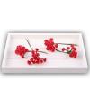 Rode roosjes van satijn 12 cm