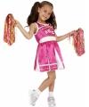 Roze cheerleader meisjes kostuum
