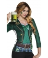 Shirt St. Patricks day opdruk dames