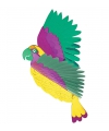 Tropische decoratie papegaai