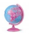 Wereldbol roze met verlichting